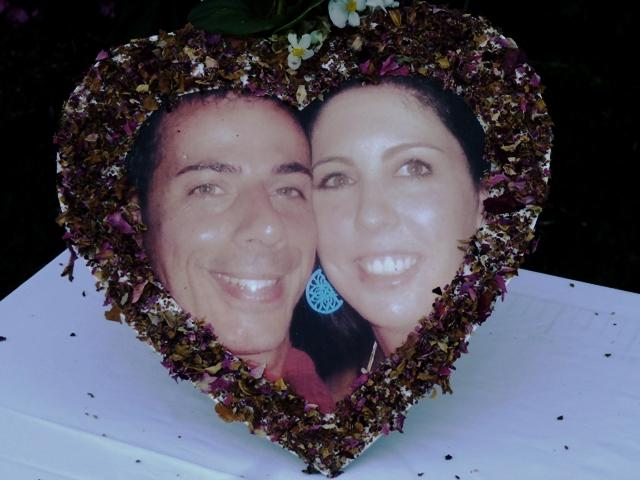 les futurs mariés Bérangère et Roberto
