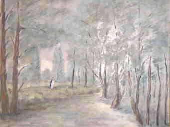 Dans le parc solitaire et glac�