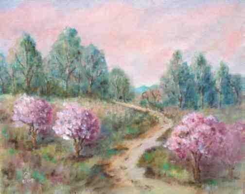 Paysage rose (pr�t d'Isabelle)